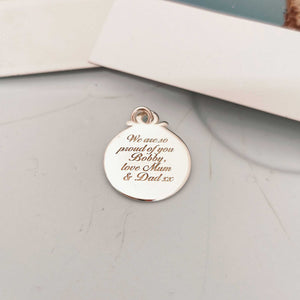 Travel Safe Compass Personalised Silver Charm