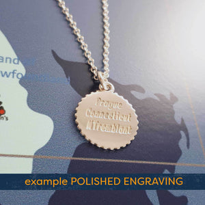 matte finish engraving triathlon swim bike run pendant