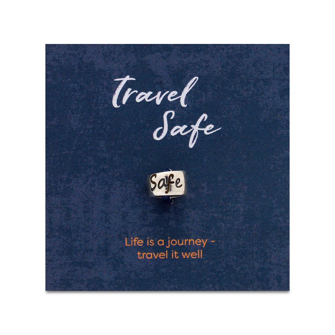 605607363 Travel Safe Solid Silver Bead Charm – Off The Map Jewellery