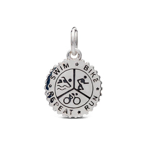 triathlon swim bike run repeat womens charm fits pandora