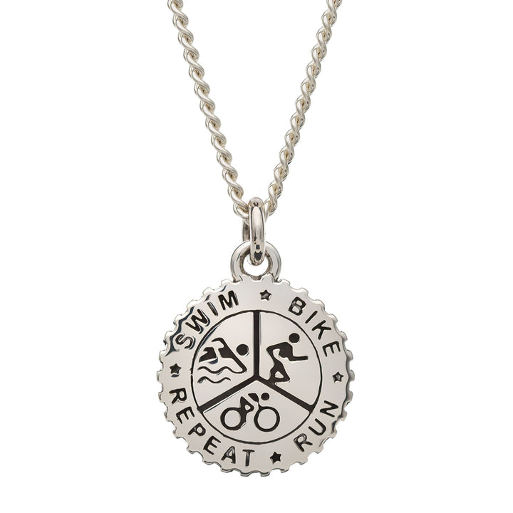 Triathlon Silver Necklace