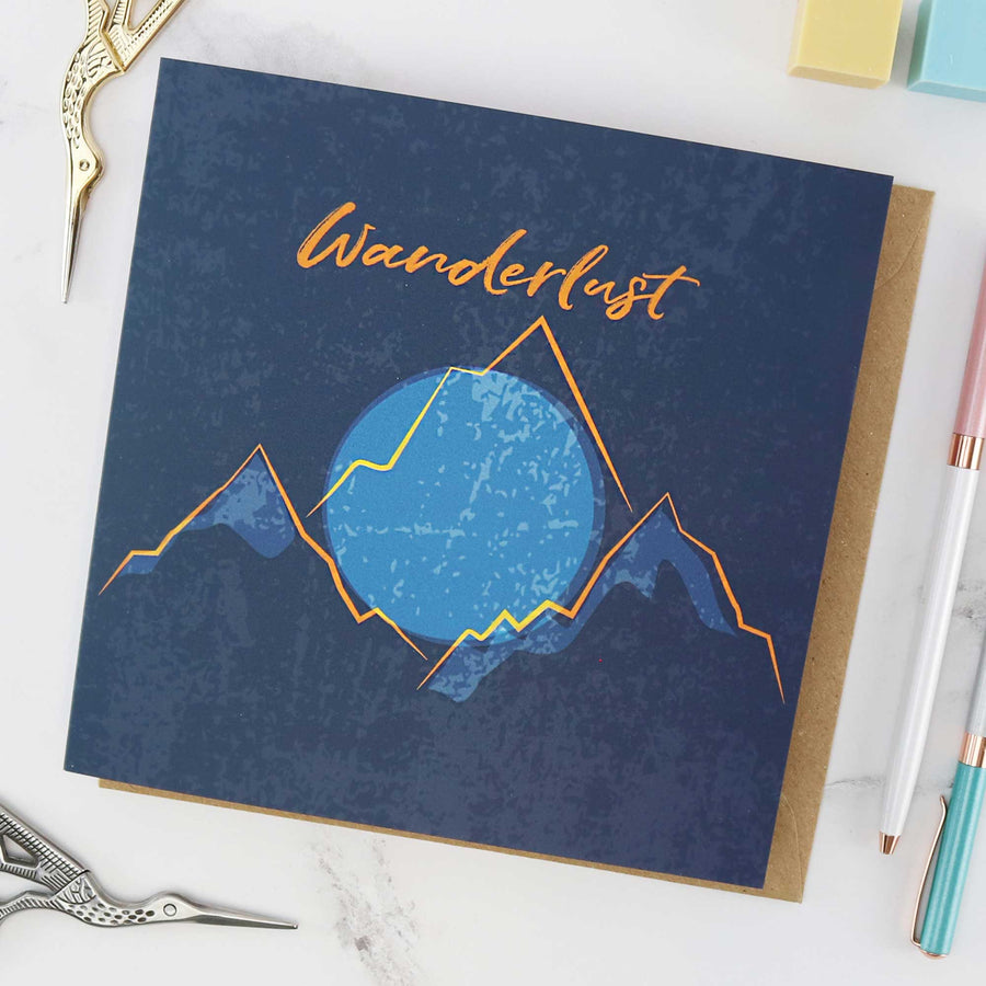 Wanderlust card for someone who loves to travel