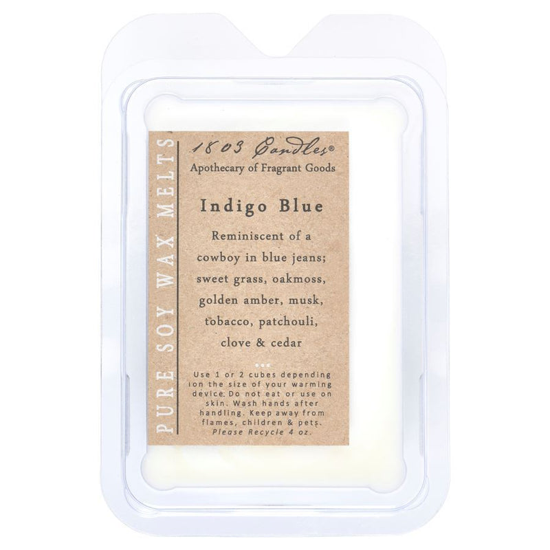 INDIGO BLUE WAX MELT - CHICKEN ROW MARKET