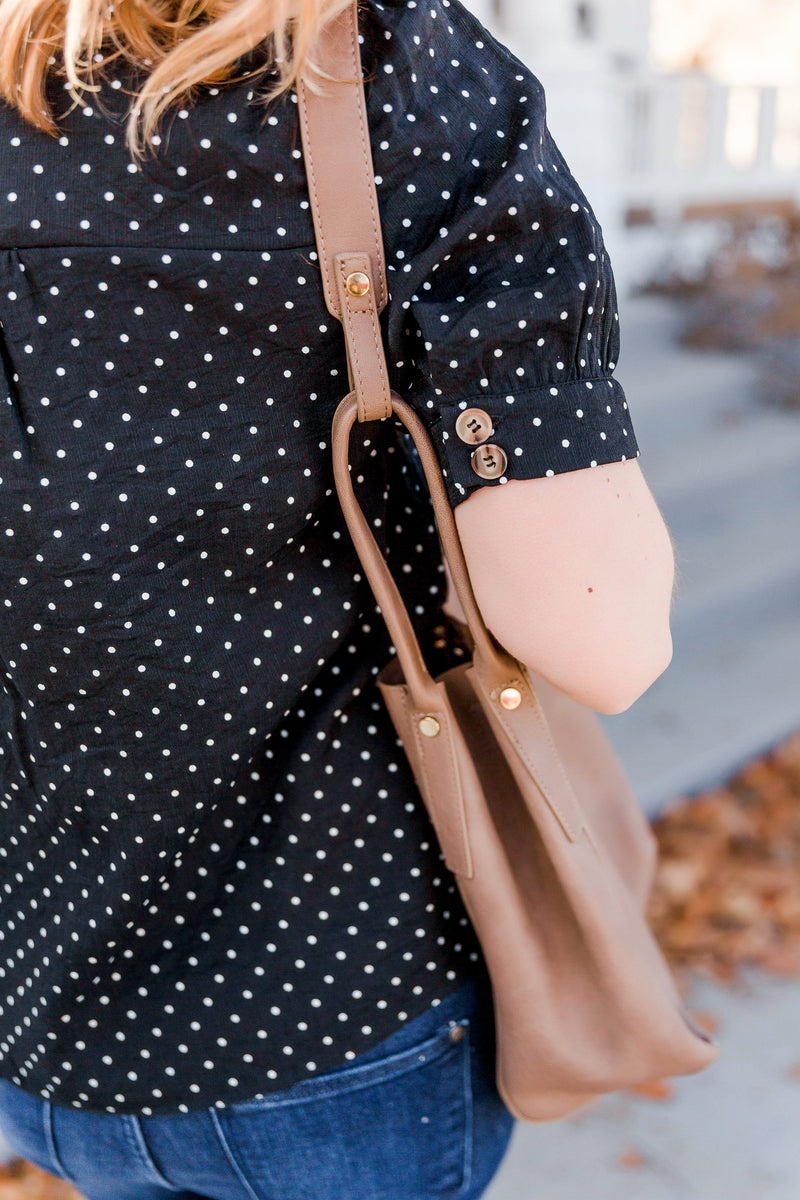 Little Charmer Polkadot Button Blouse