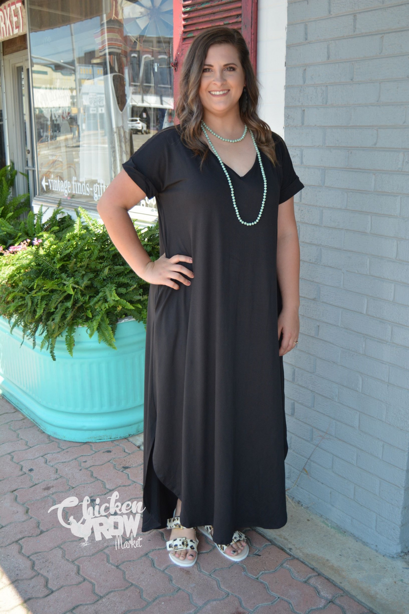 SO BASIC BLACK MAXI