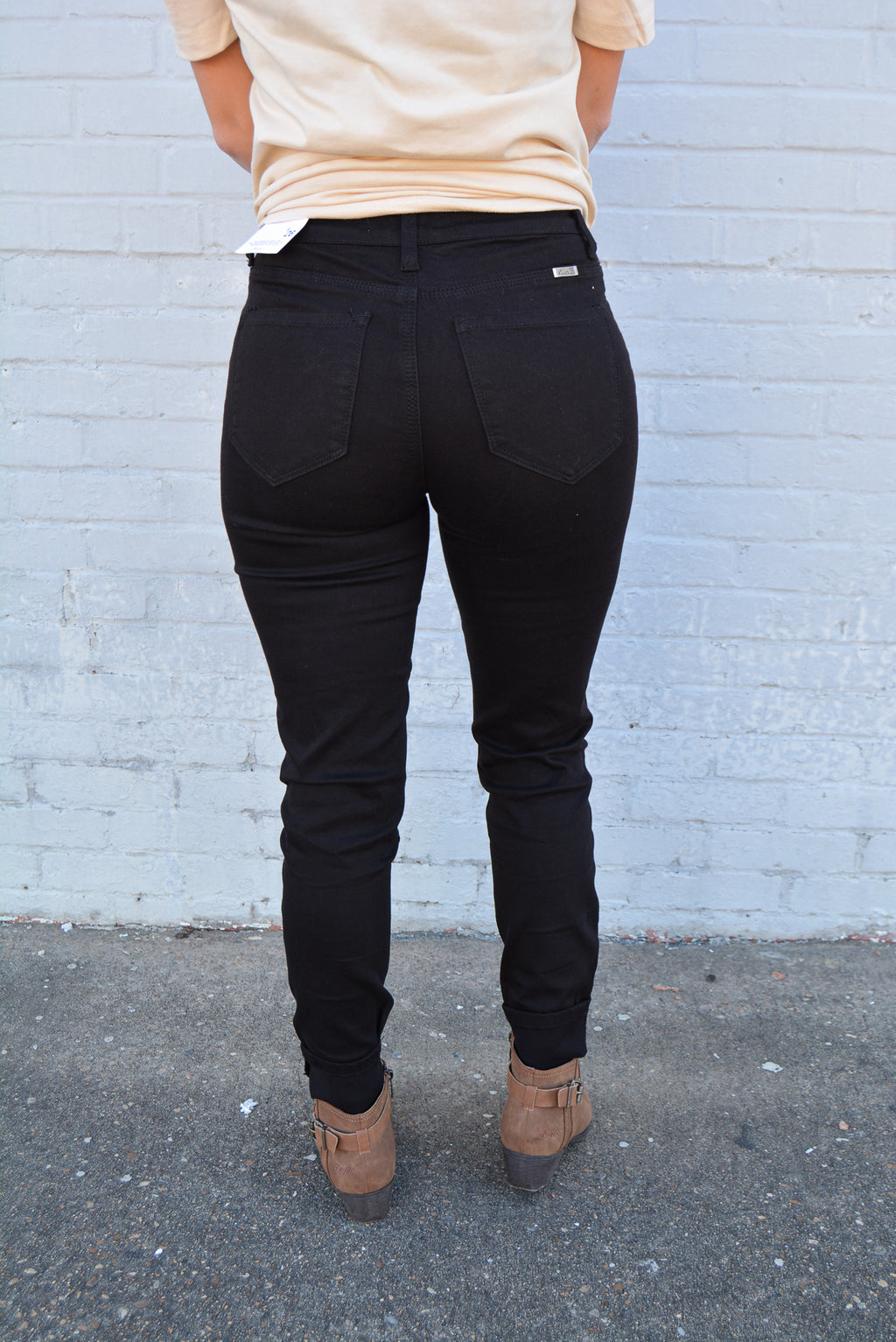 """MIKA"" BLACK DENIM KANCAN SKINNIES - CHICKEN ROW MARKET"