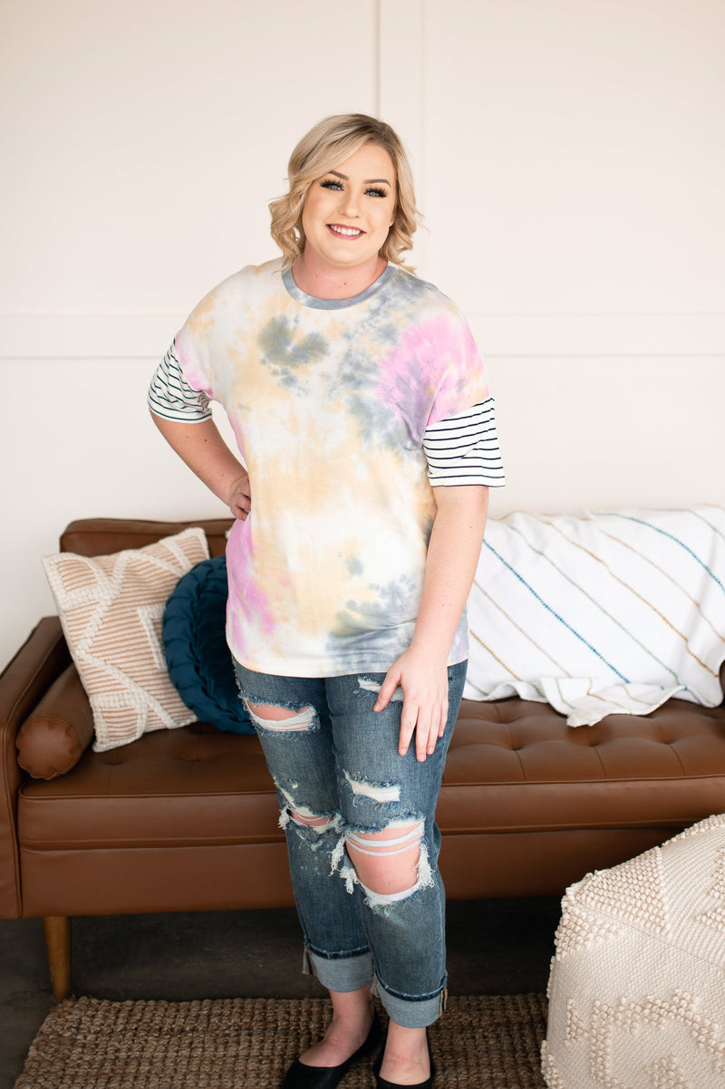Positive Vibes Only Tie Dye Top
