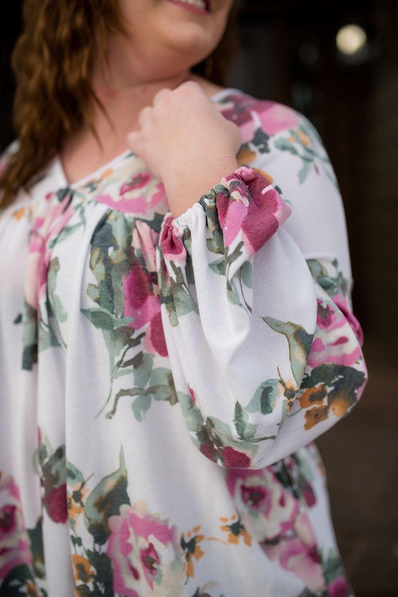 Hard Act To Follow Floral Top