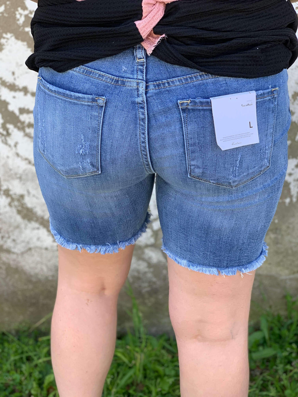 """STEVIE"" KANCAN DENIM SHORTS - CHICKEN ROW MARKET"