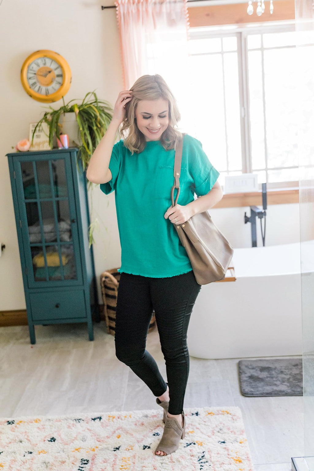 Never Miss A Beat Top In Emerald
