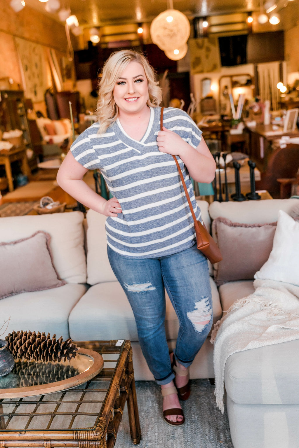 Ready To Go Coastal Striped Top