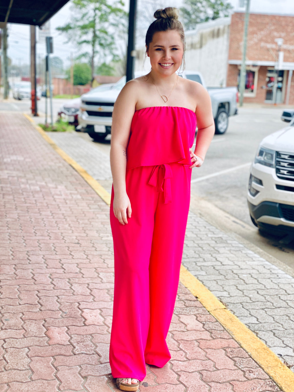 NEED IT FUCHSIA JUMPSUIT