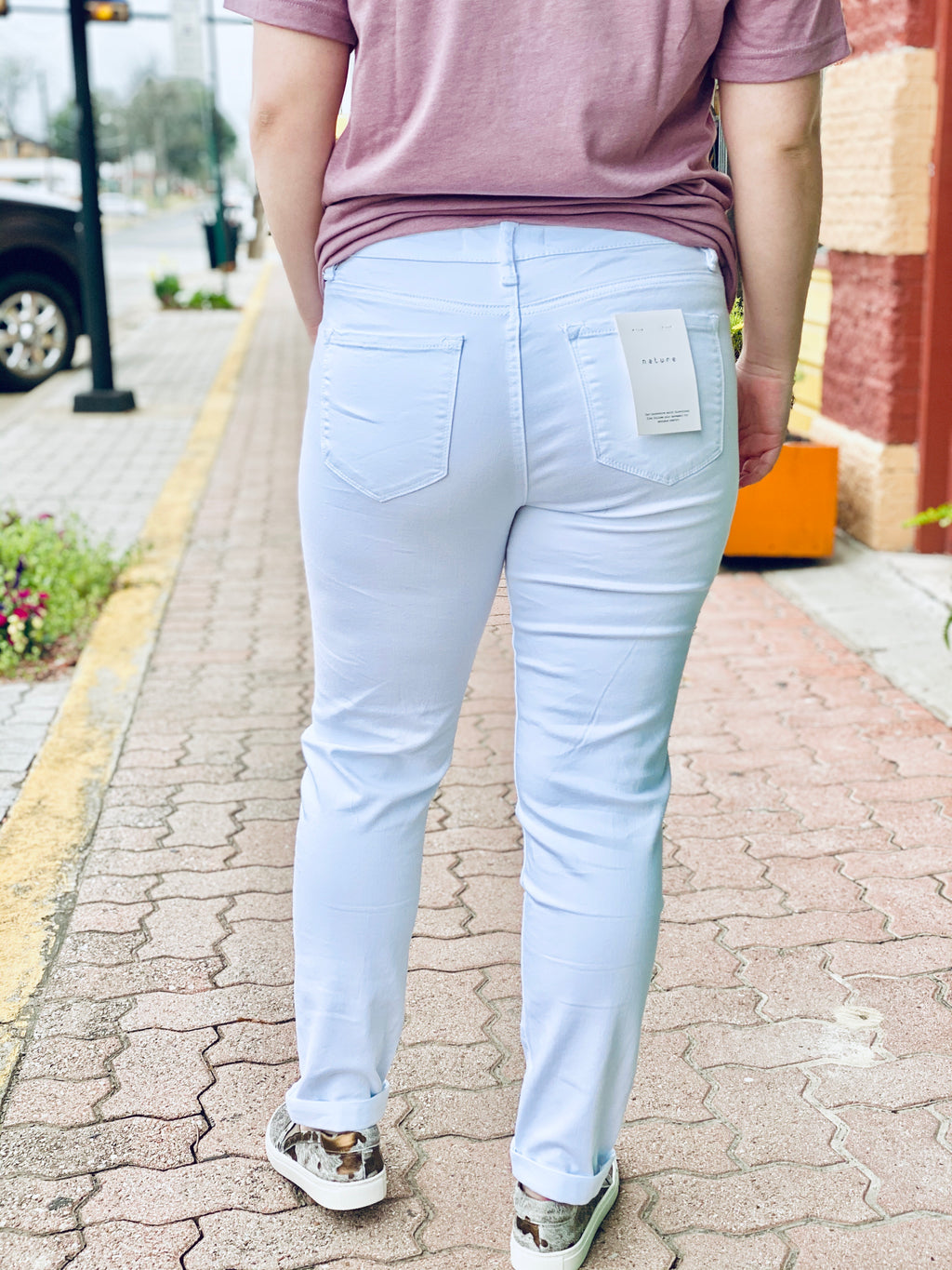 WHITE DISTRESSED SKINNIES - CHICKEN ROW MARKET
