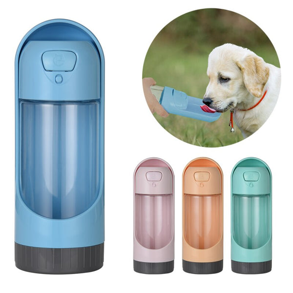 Portable Pet Dog Water Bottle Drinking Bowls