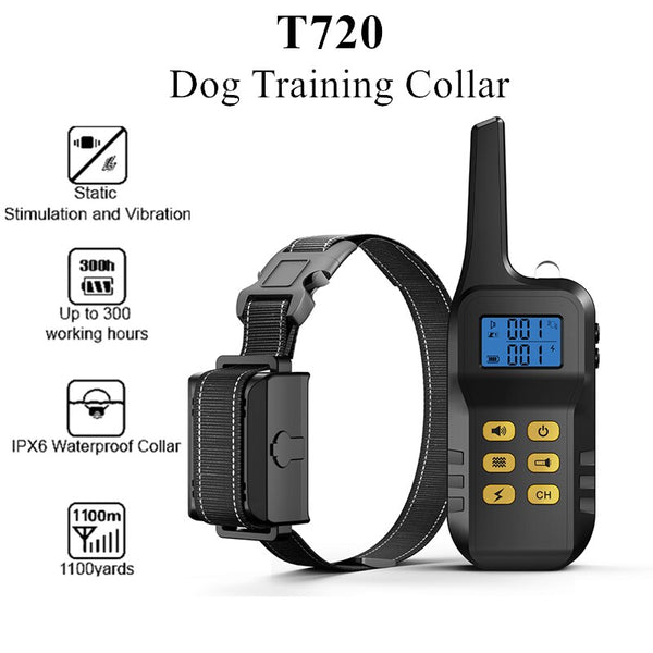 T720 Remote Dog Training and Anti-Barking Collar