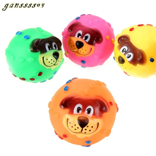 Dog Soft Rubber Chew Sound Ball Toys (Send Randomly One Size)