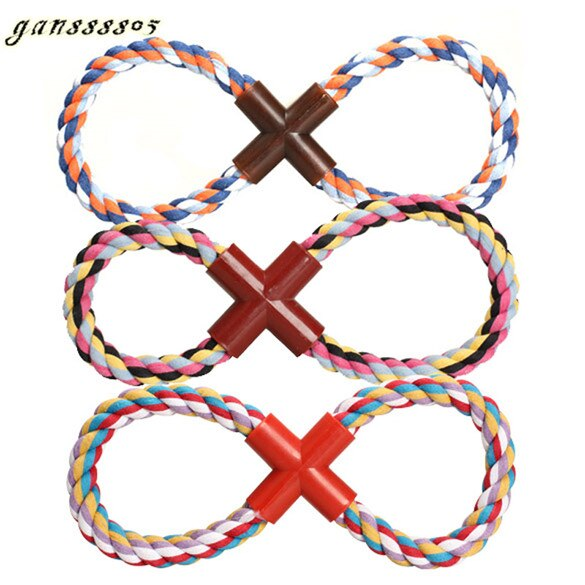 Pet Dogs Cats Cotton Rope Toy (Color Random One Size)