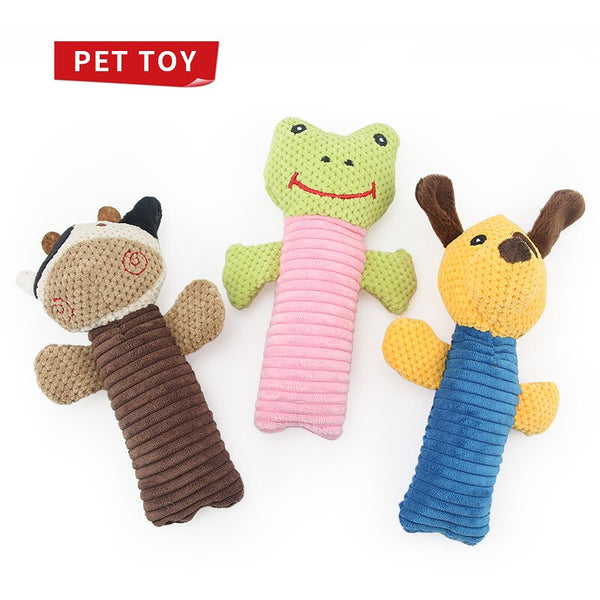 Cloth Cute Pet Toy Animal Squeak Toy Frog Cow Sound Dogs Toys