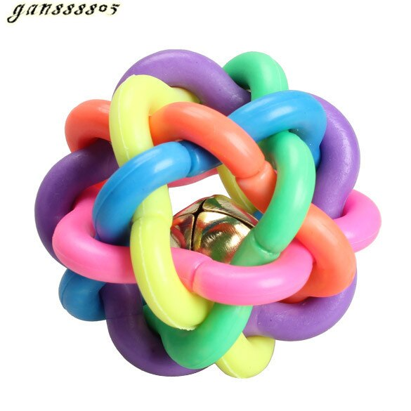 Colorful Rubber Round Ball with Small Bell