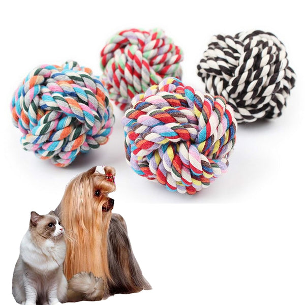 Dog  Chew Teething Cotton Rope Knot