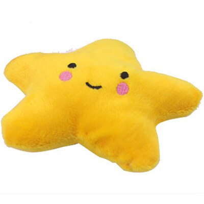 2pcs/lot Plush Pet Toy Chew Sound Toy Clouds Star Pet Playing Fun Dog Toys