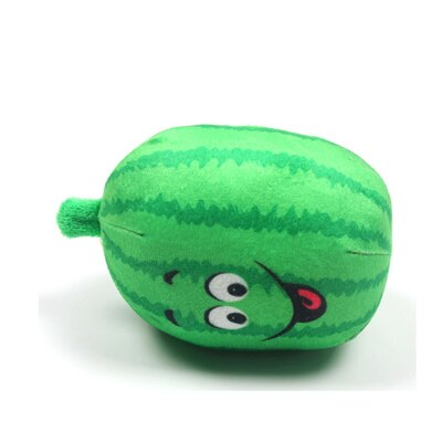 2pcs/lot Plush Cotton Ball Watermelon Sound Toys  (Green Free Size)