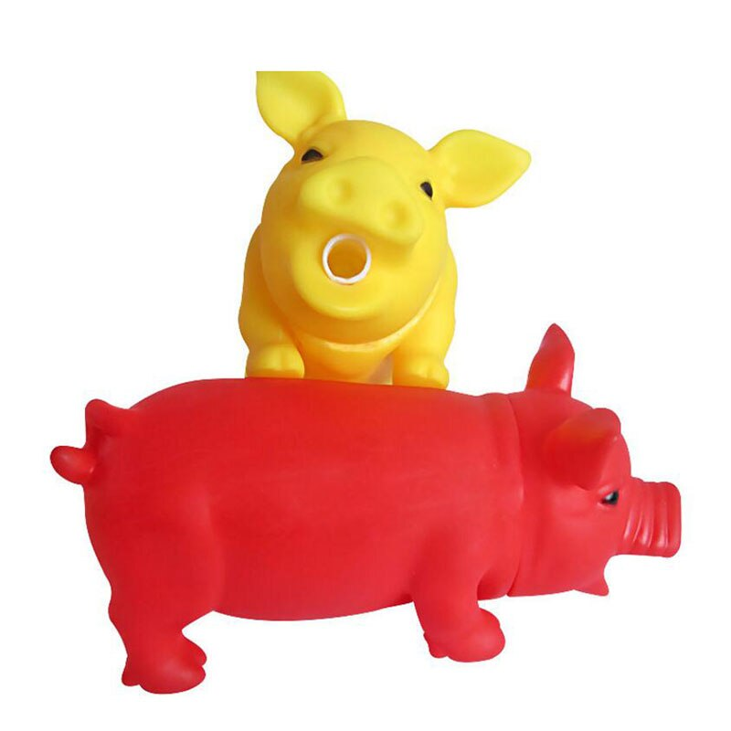 Cute Rubber Pig Dog Chewing Toy