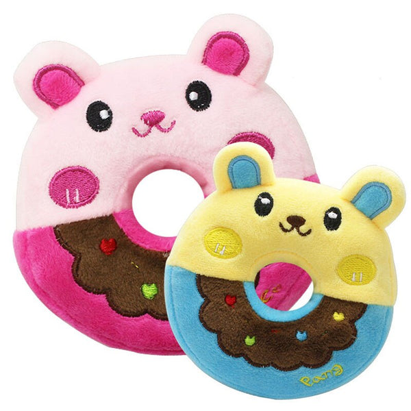 11cm Sound Donut Play Toy for Dogs