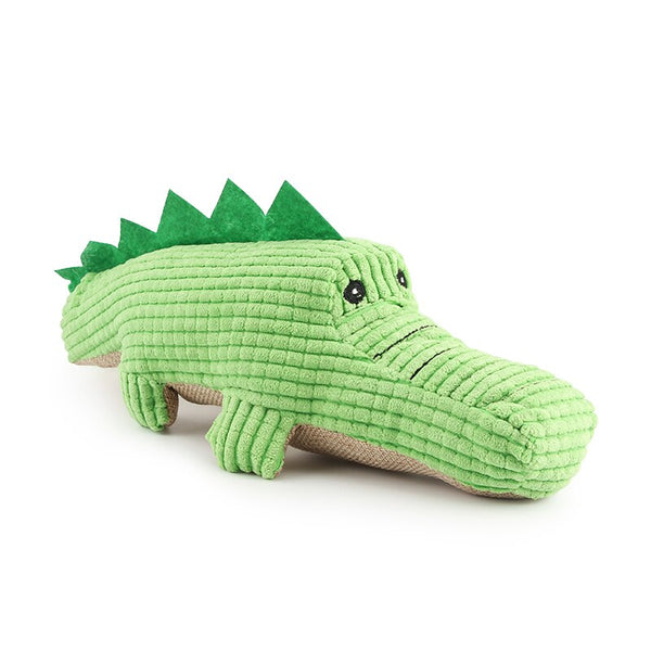 Crocodile Plush Soft Pet Toy  (Green Free Size)