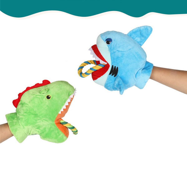 Plush Shark Dog Toy Pet Chew Squeak Toys