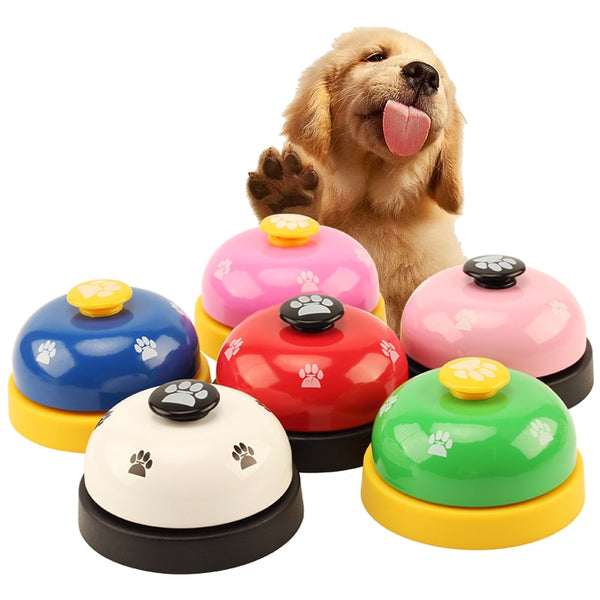 5pcs/lot Pet Toy Train Call Dinner Bell Ring