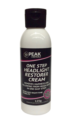 One Step Headlight Restorer Cream – 125g