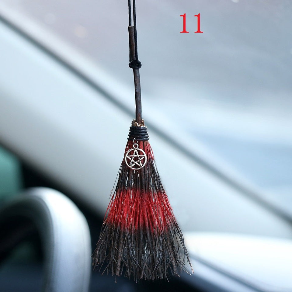 MINI Witches Broom Protection Charm For Rear View Mirror
