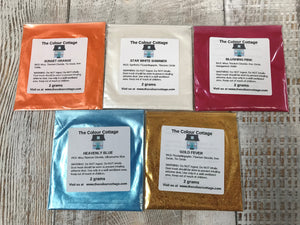 Mica Colour Powder Sample Pack for Resin Art. The Colour Cottage Mica