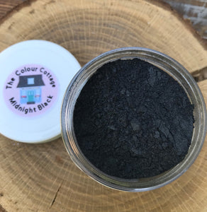 Black mica powder for river tables, making geodes, resin art, and mica beauty.