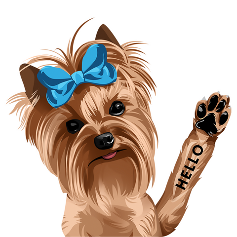Image of Jonathan The Yorkie Decal