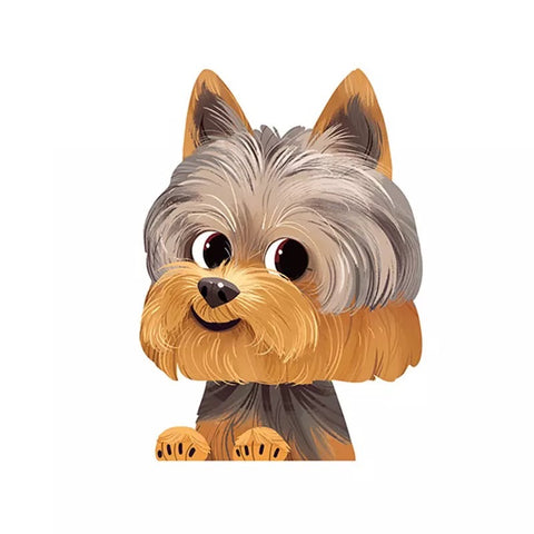 Big Head Yorkshire Terrier Decal