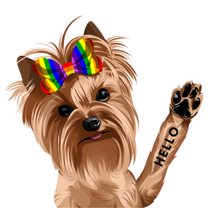 Jonathan The Yorkie Decal