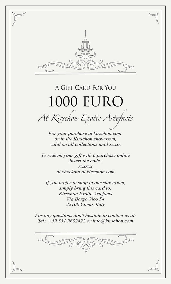Virtual Gift Card - 1000 Euro - kirschon
