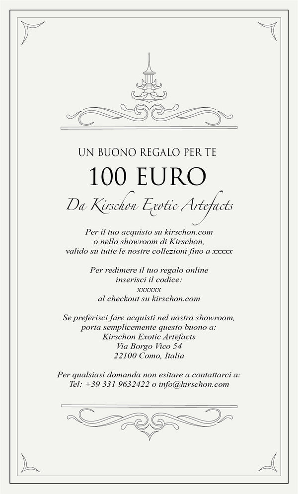 Virtual Gift Card - 100 Euro - kirschon