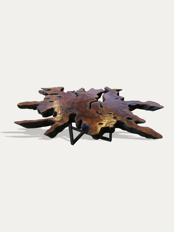 LYCHEE WOOD COFFEE TABLE, AVAILABLE AT KIRSCHON EXOTIC ARTEFACTS AND KIRSCHON.COM