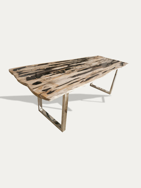 RARE PETRIFIED WOOD DINING TABLE