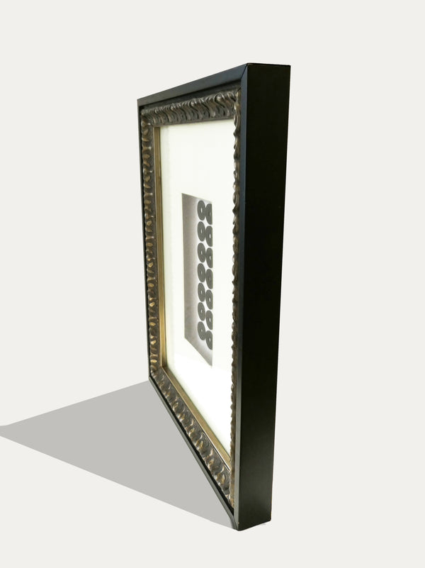Frame with Pis Bolong - 21 Balinese Coins - kirschon