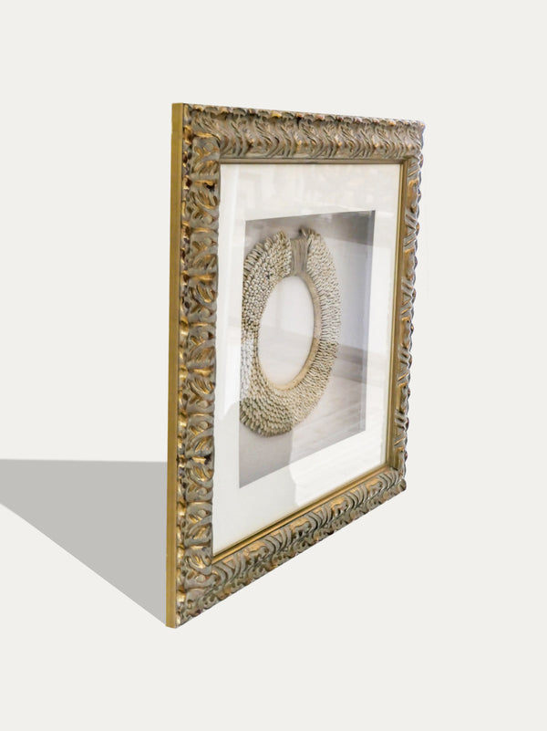 Frame with Tribal Cowrie Shell Necklace from Papua