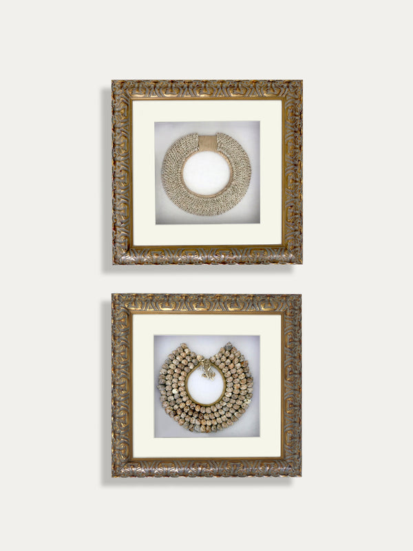 Set of 2 Frames with Tribal Necklaces from Papua - kirschon