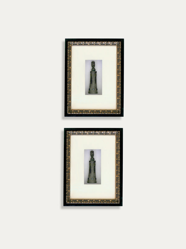 Set of 2 Frames with Tribal Medicine Bottles from the Tanimbar Islands - kirschon
