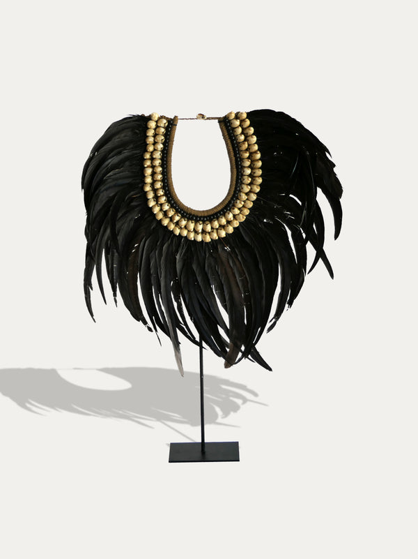 Tribal Feather Necklace from Papua - kirschon