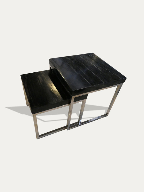 Kirschon Petrified Wood Side Table