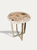 Tall Petrified Wood Side Table