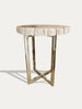 Tall Petrified Wood Side Table - kirschon